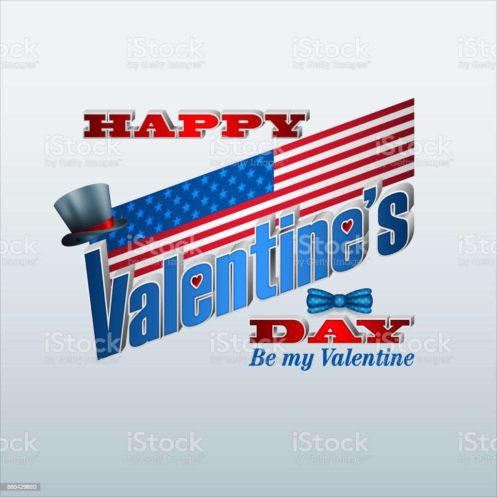 Amerika Feier Des Valentinstag Vektor Illustration 885429850 | iStock