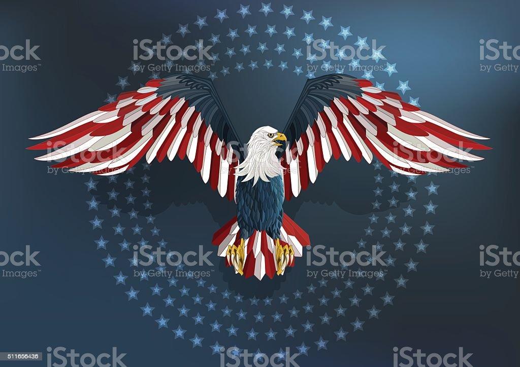 America Eagle Vector vector art illustration