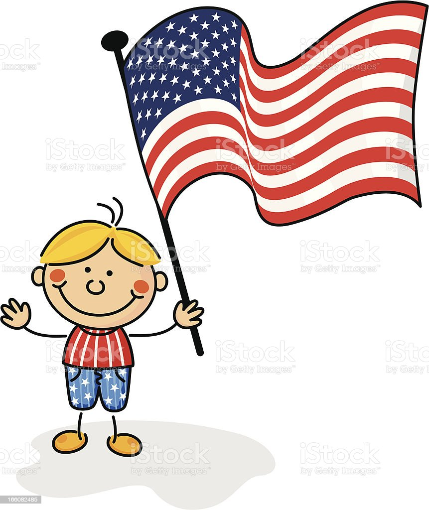 Bandera de estados unidos para ni os illustracion libre de - Dibujo bandera inglesa ...