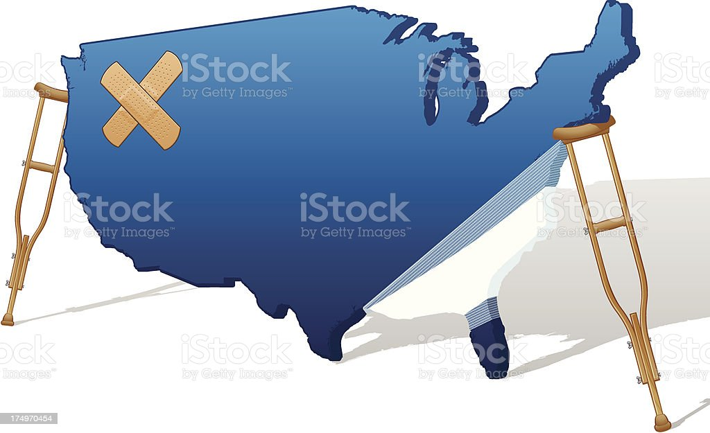 America Health vector art illustration