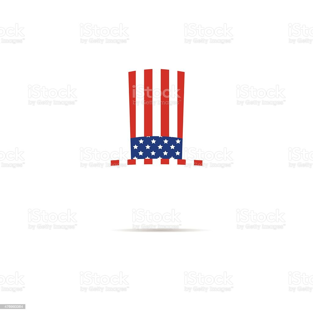 America independence day hat vector art illustration
