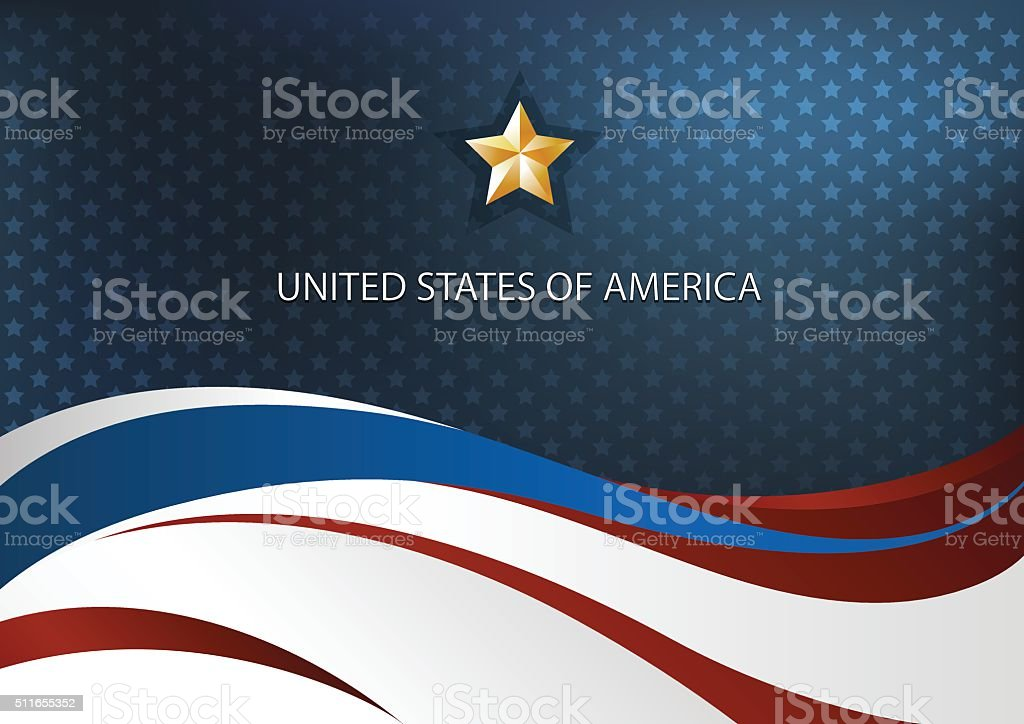 America Independence Vector vector art illustration