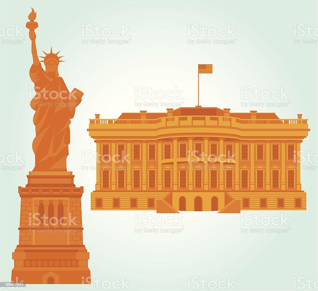 America Landmark Icon royalty-free stock vector art