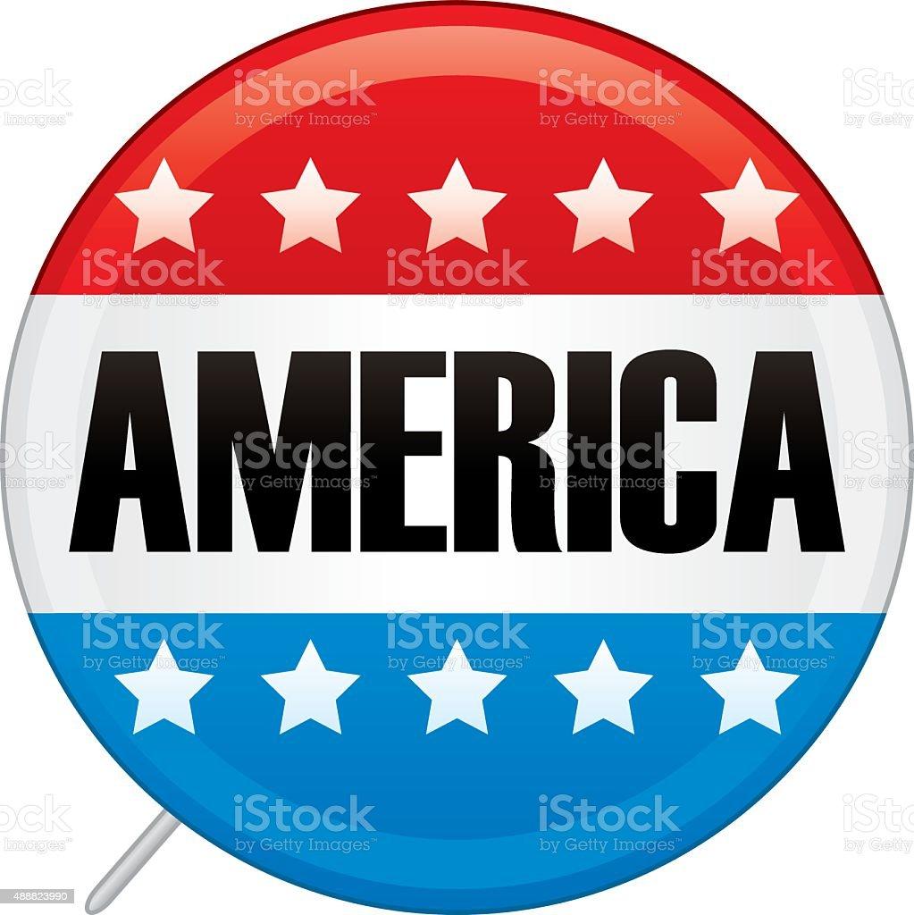 America Pin vector art illustration