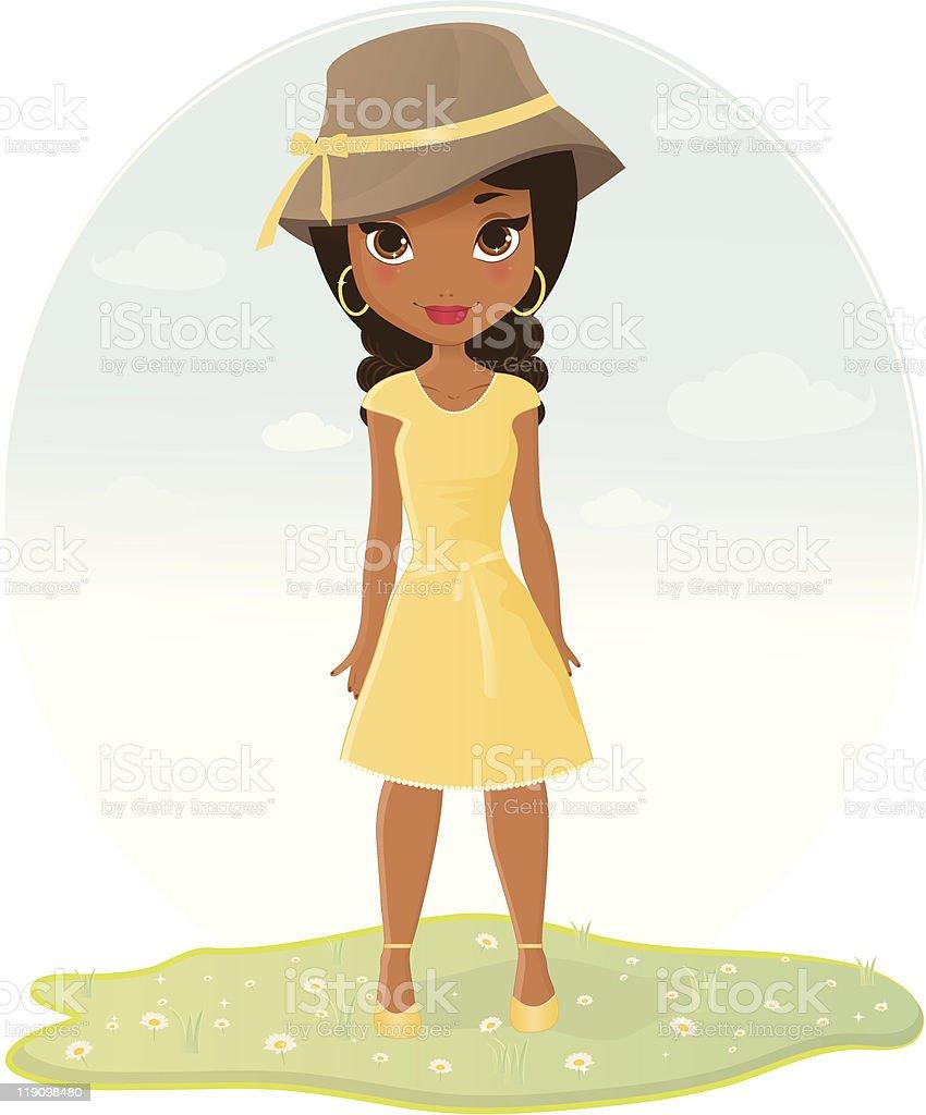 African American Girl illustracion libre de derechos libre de derechos