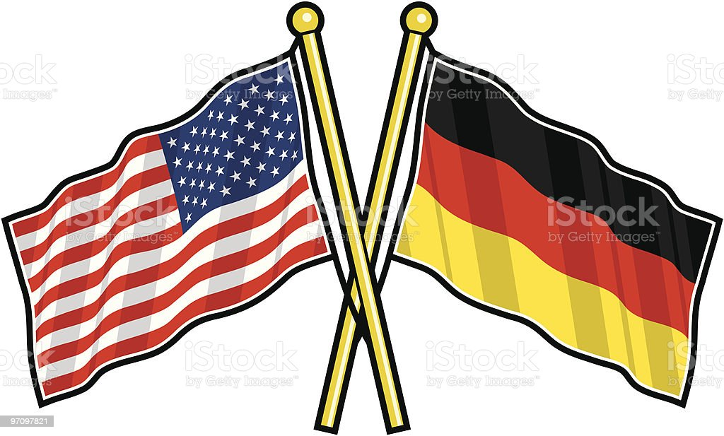 American and German Friendship flag royalty-free stock vector art