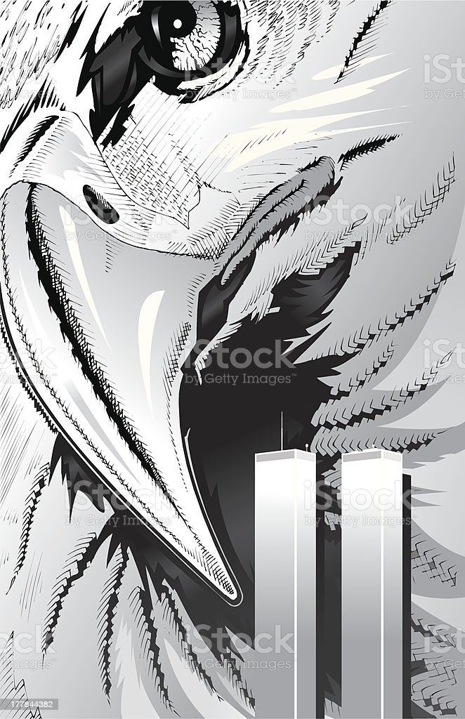 American Bald Eagle 911 royalty-free stock vector art