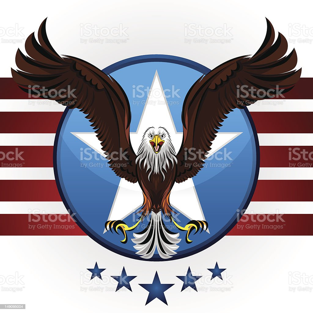 American Bald Eagle royalty-free stock vector art