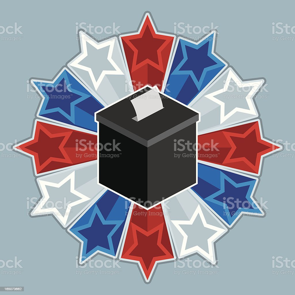 American Ballot Box royalty-free stock vector art