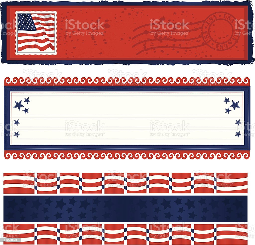 Americana Banners royalty-free stock vector art