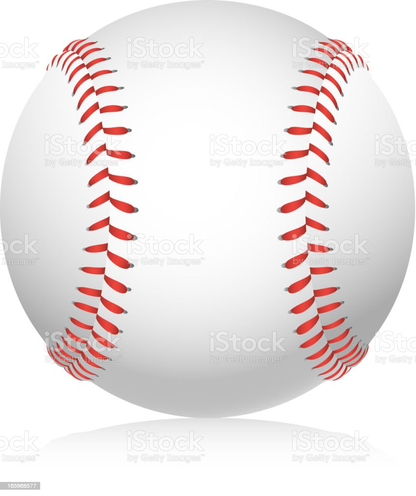 American Baseball Ball vector illustration.