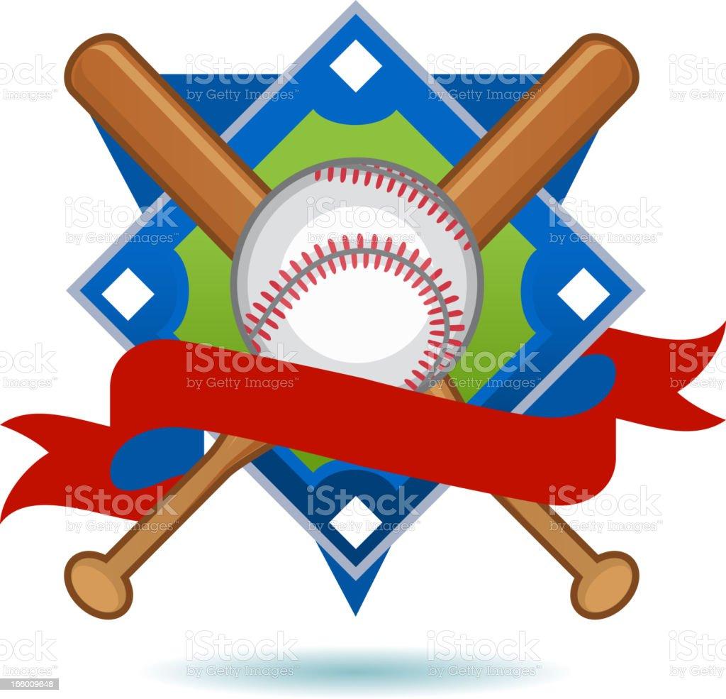 American Baseball Insignia royalty-free stock vector art