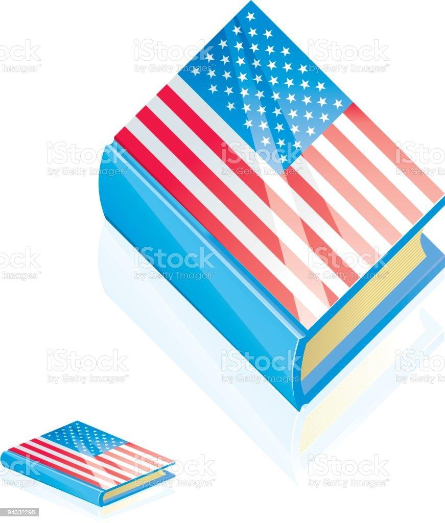 American Book royalty-free stock vector art