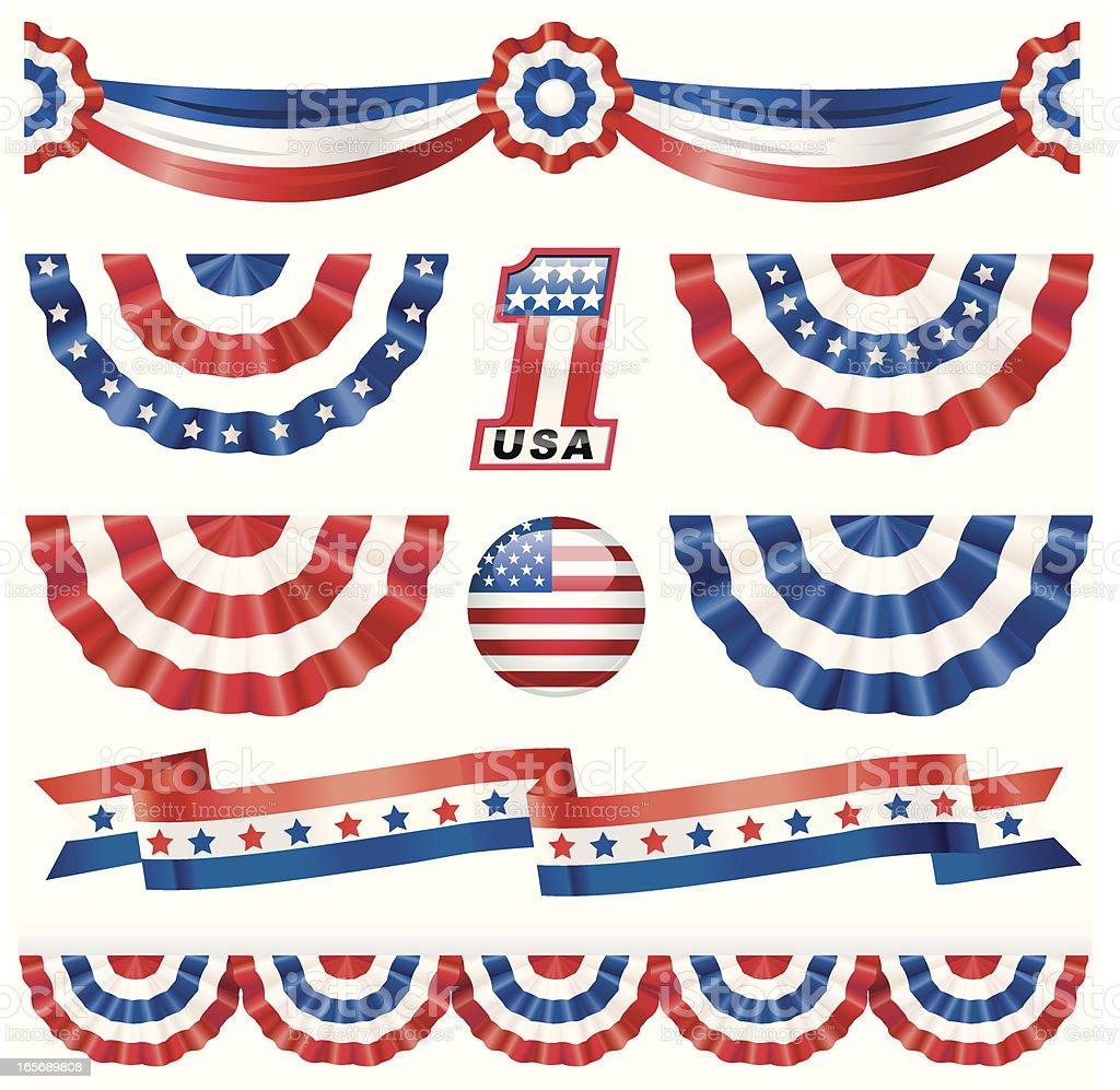 American Bunting vector art illustration