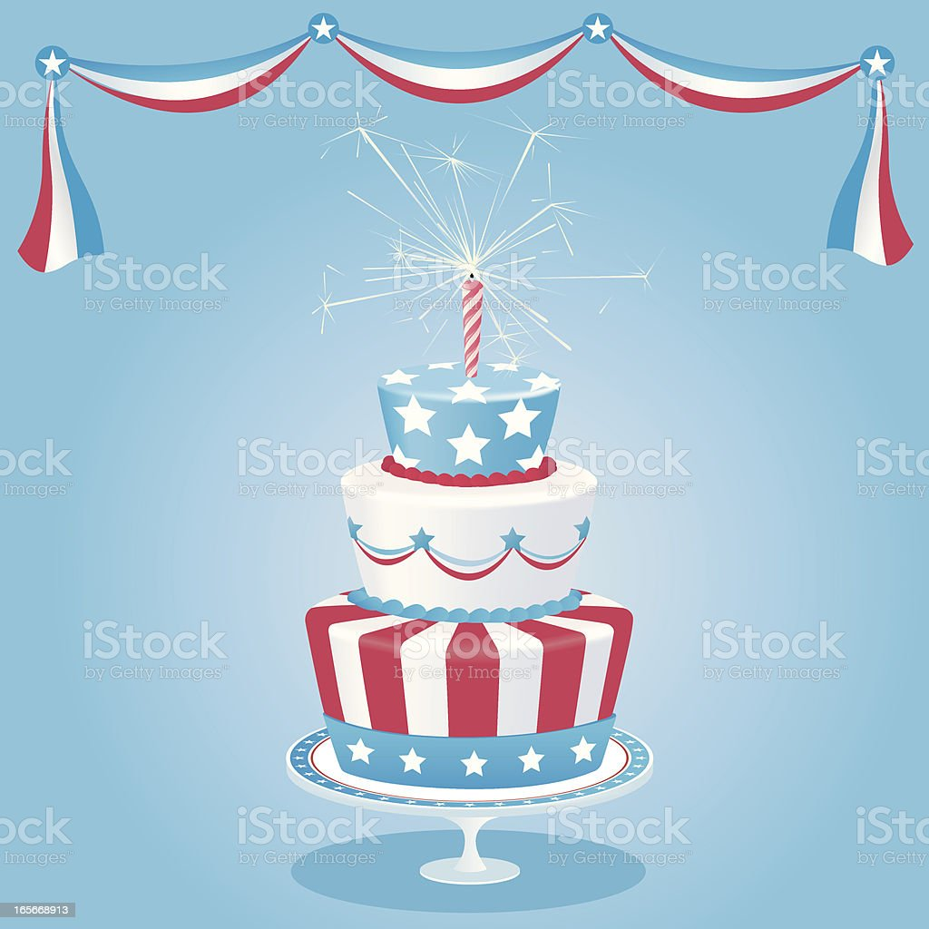 American Cake royalty-free stock vector art