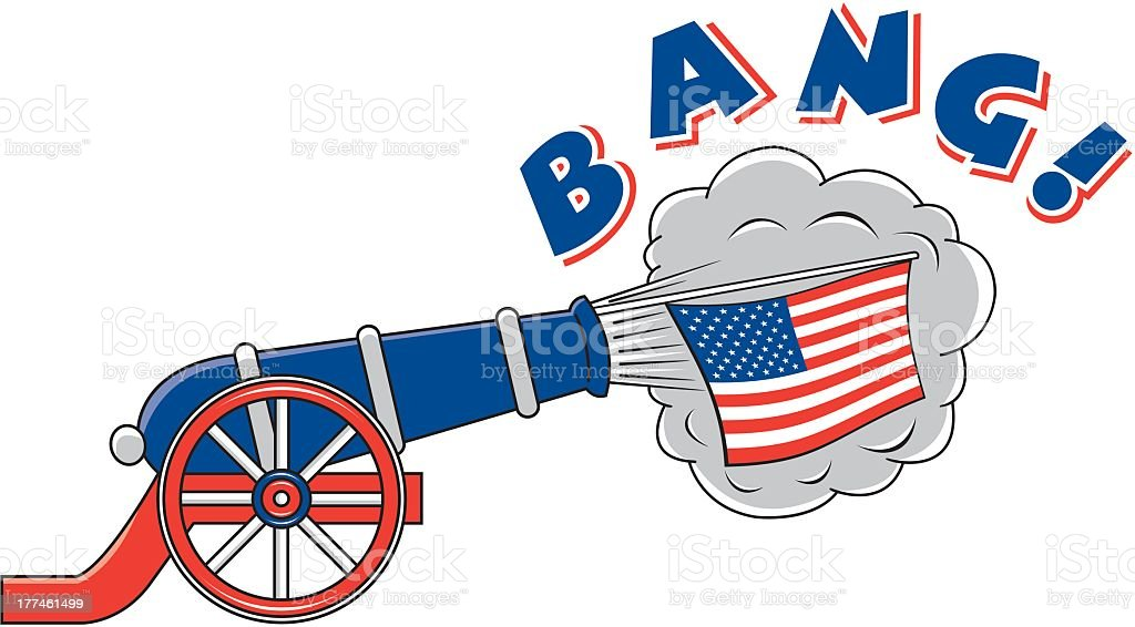 American Cannon royalty-free stock vector art