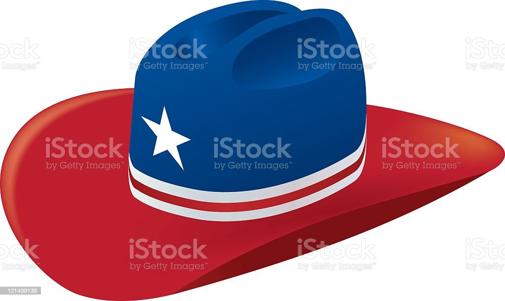 American Cowboy Hat royalty-free stock vector art