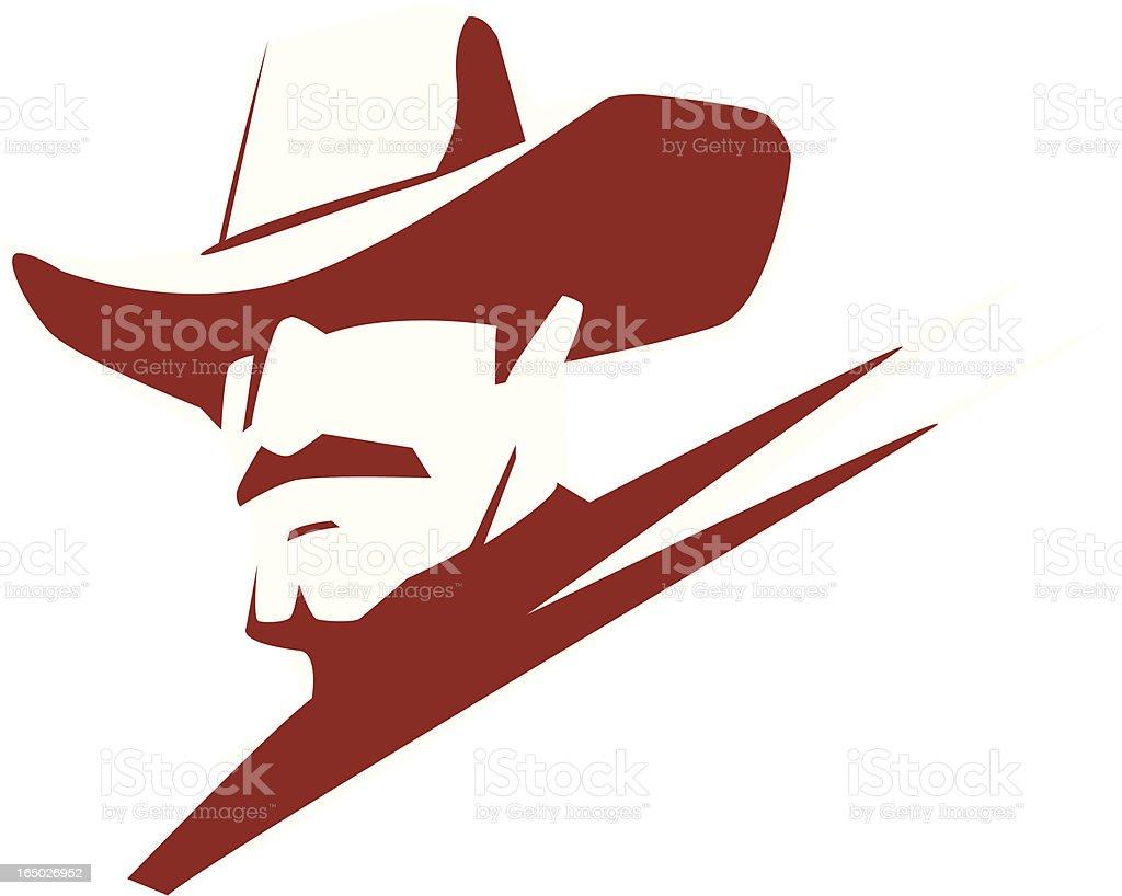 american cowboy royalty-free stock vector art