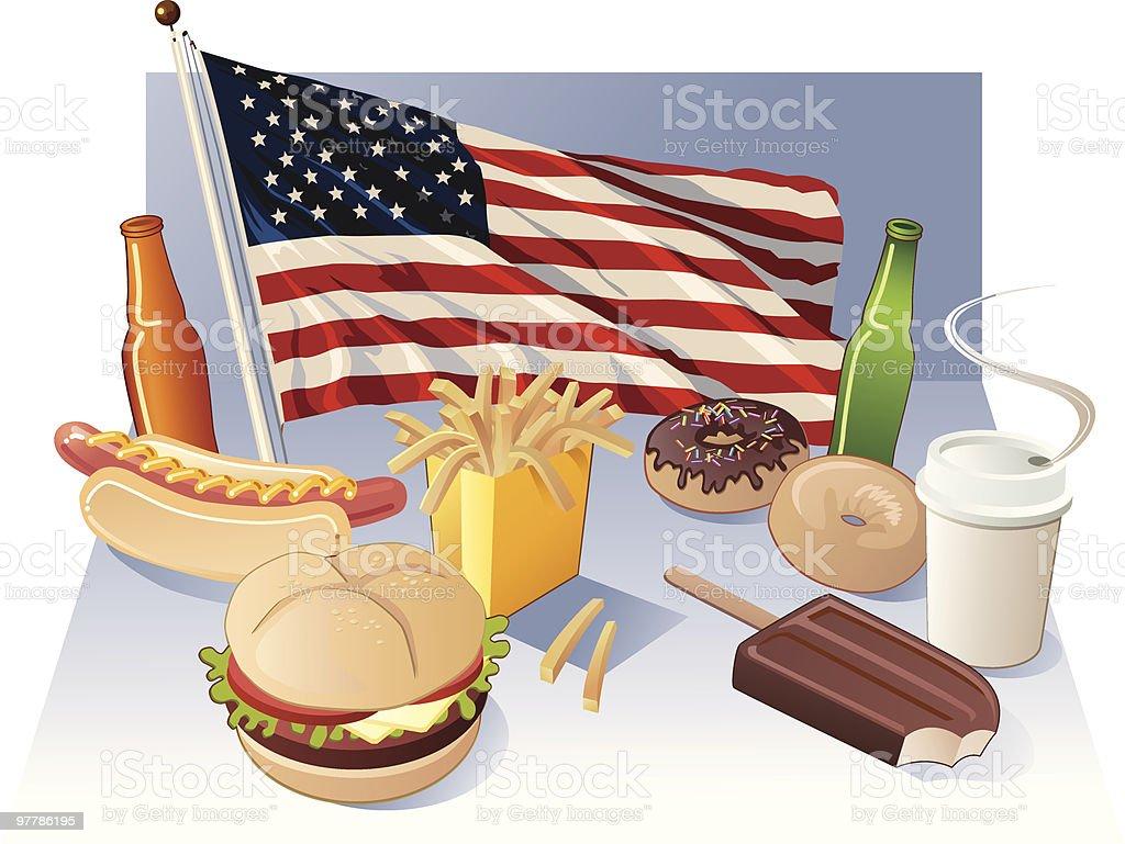 American Diet royalty-free stock vector art
