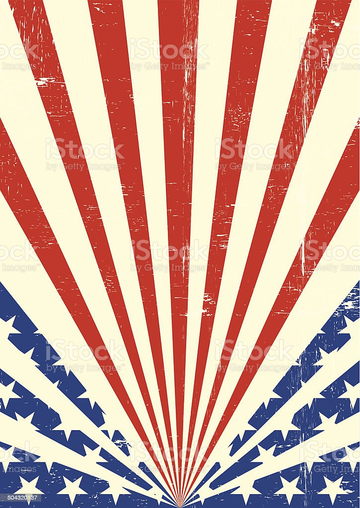 American dirty flag background vector art illustration