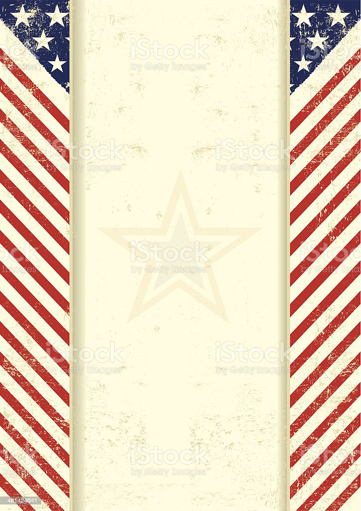 American dirty frame vector art illustration