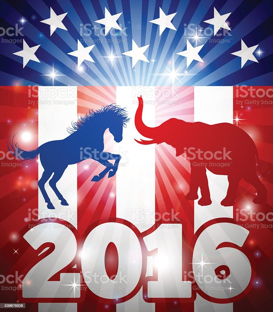 American Election Concept 2016 vector art illustration