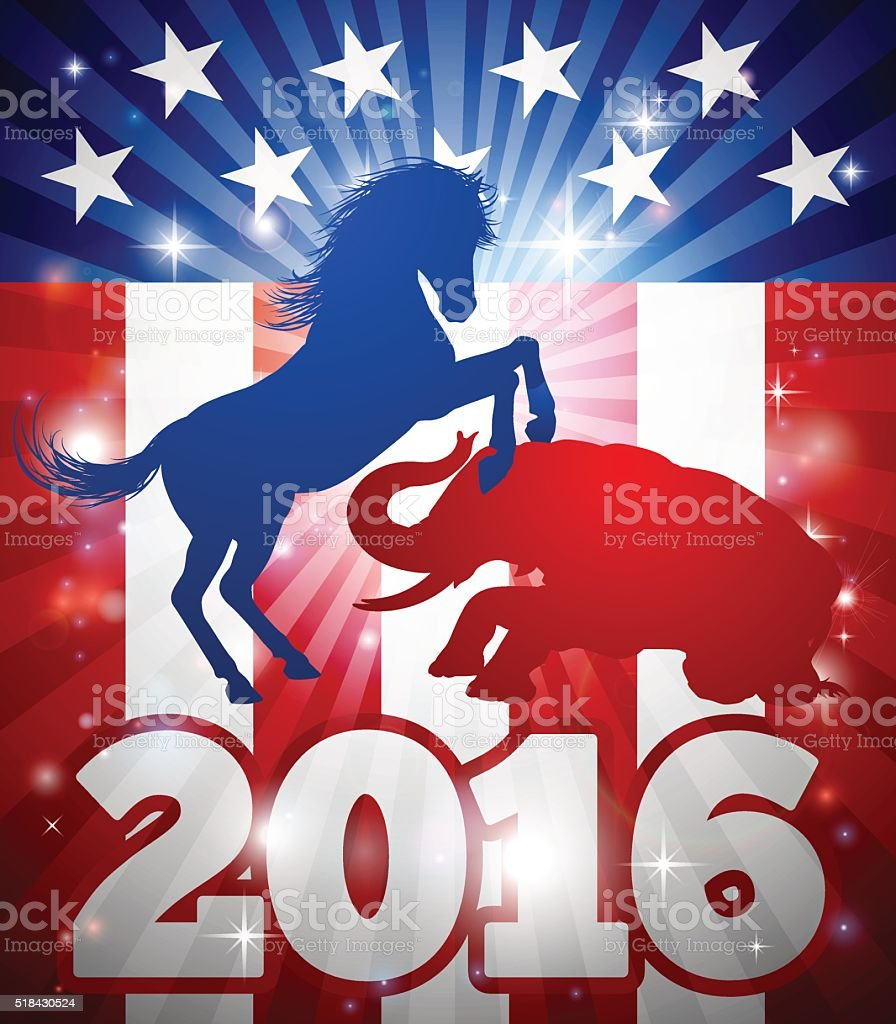 2016 American Election Concept vector art illustration