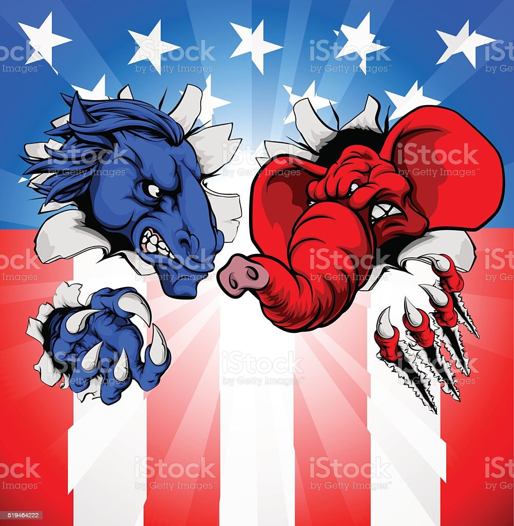 American Election Concept vector art illustration