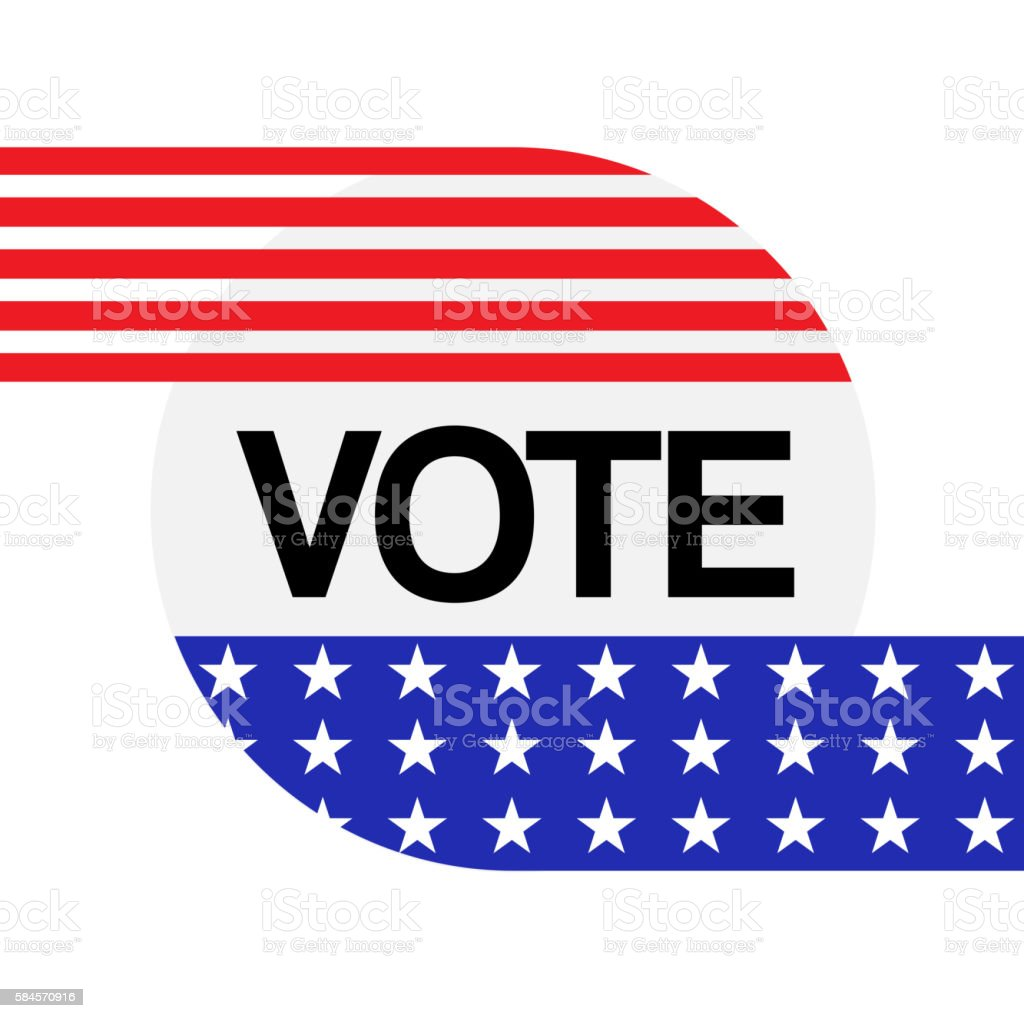 American election symbol vector art illustration