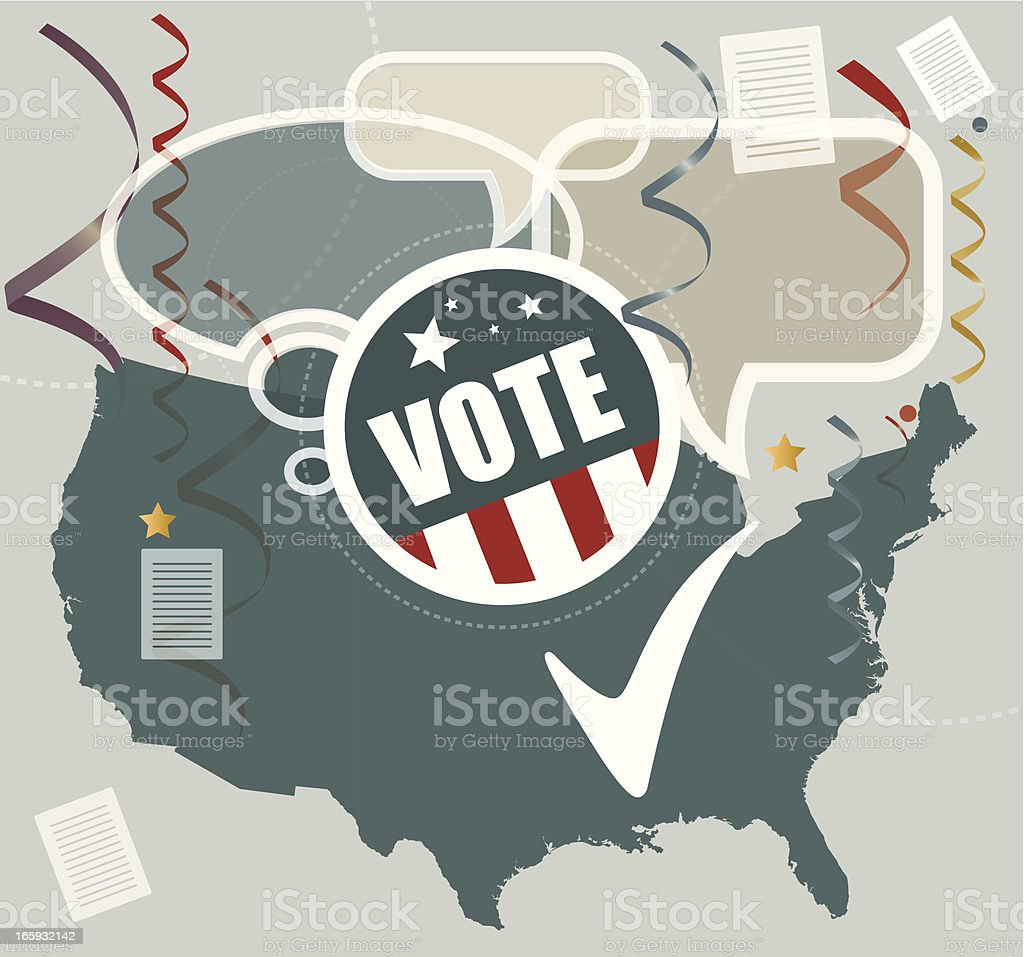 American Elections royalty-free stock vector art