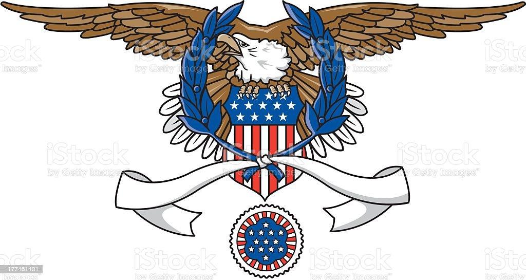 American Emblem royalty-free stock vector art