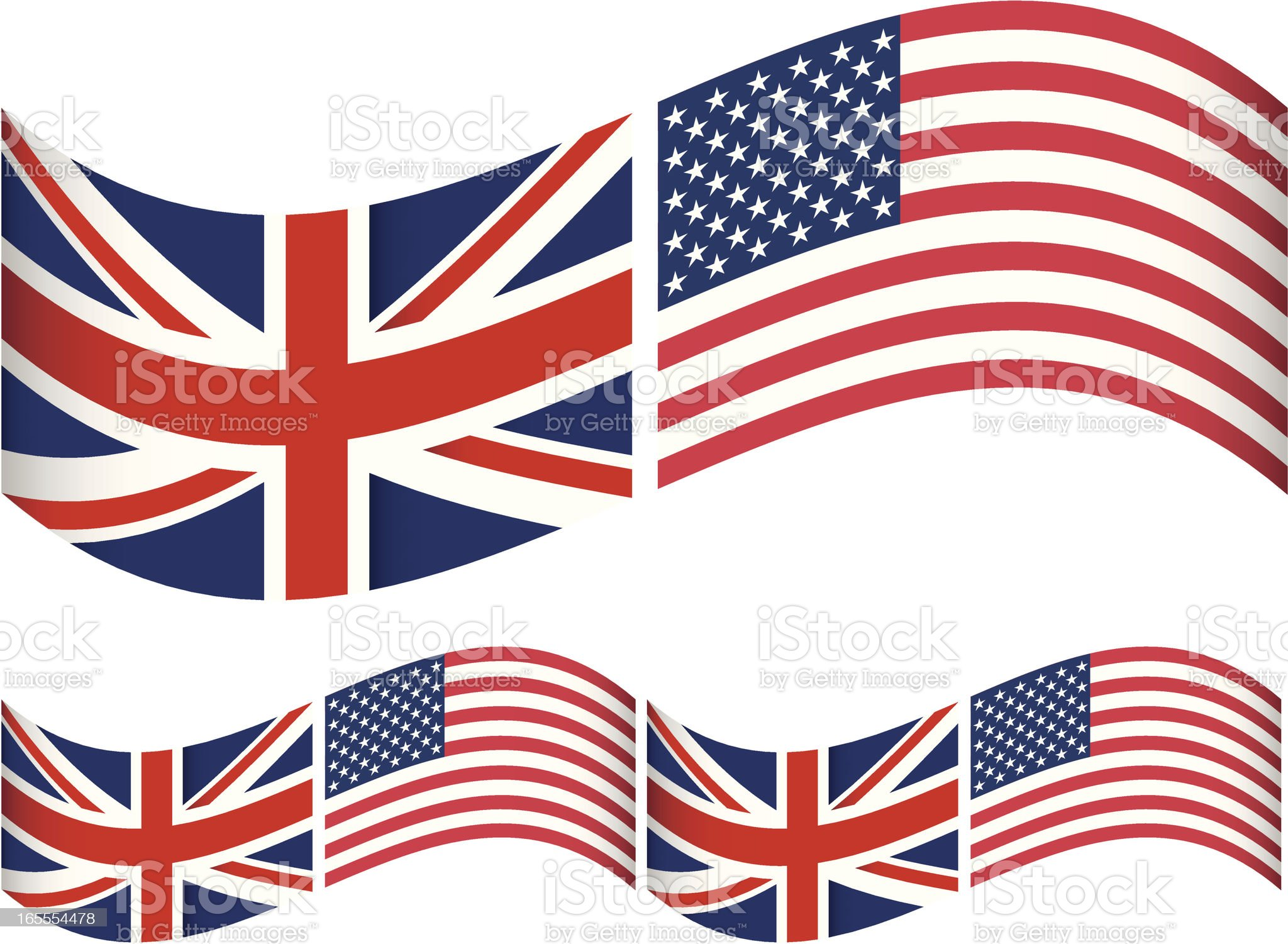 American English Flag royalty-free stock vector art