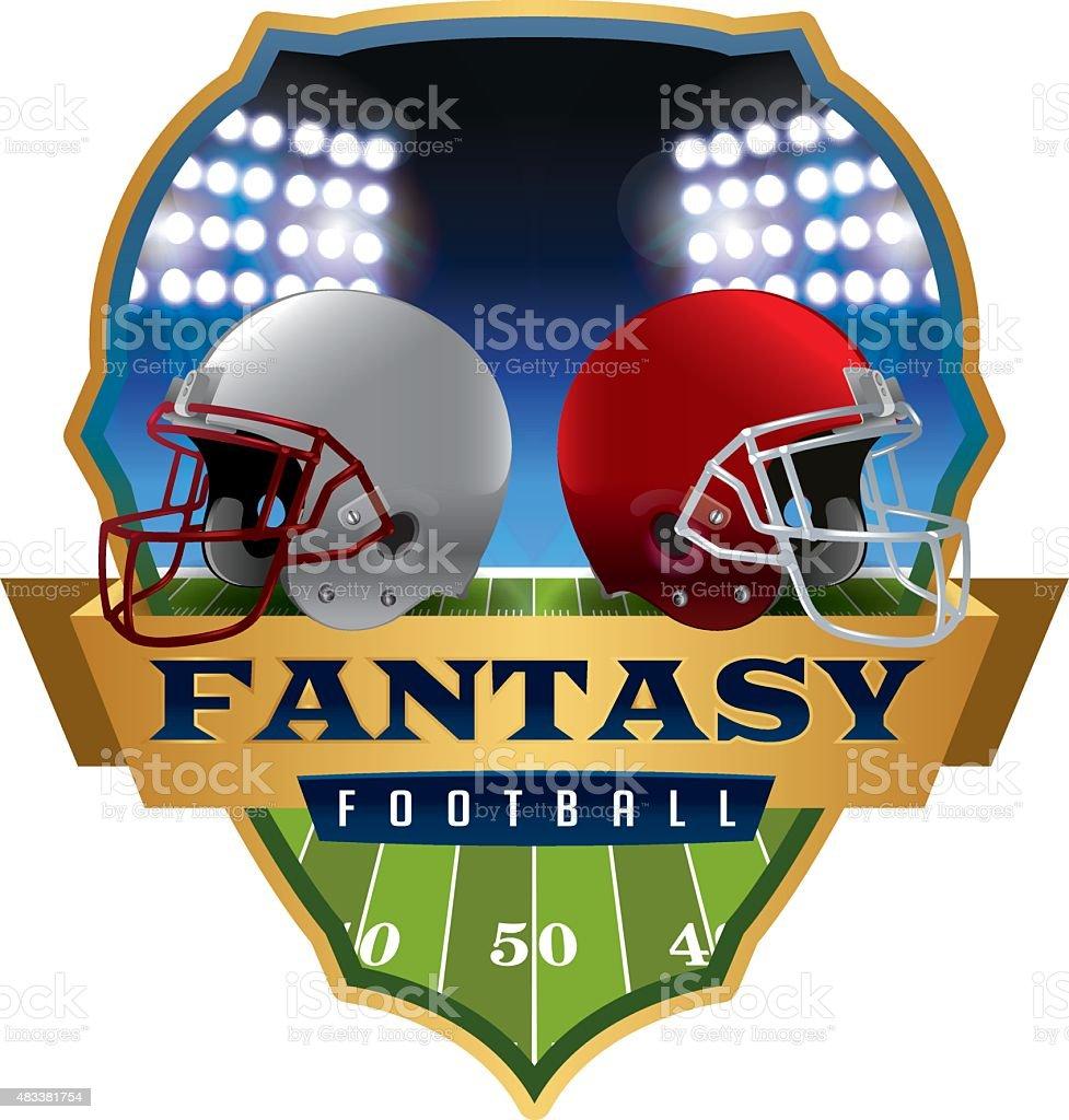 American Fantasy Football Emblem Illustration vector art illustration