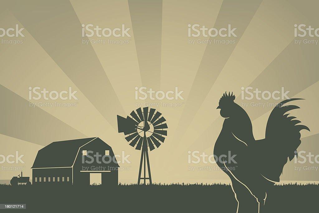 American farming background vector art illustration