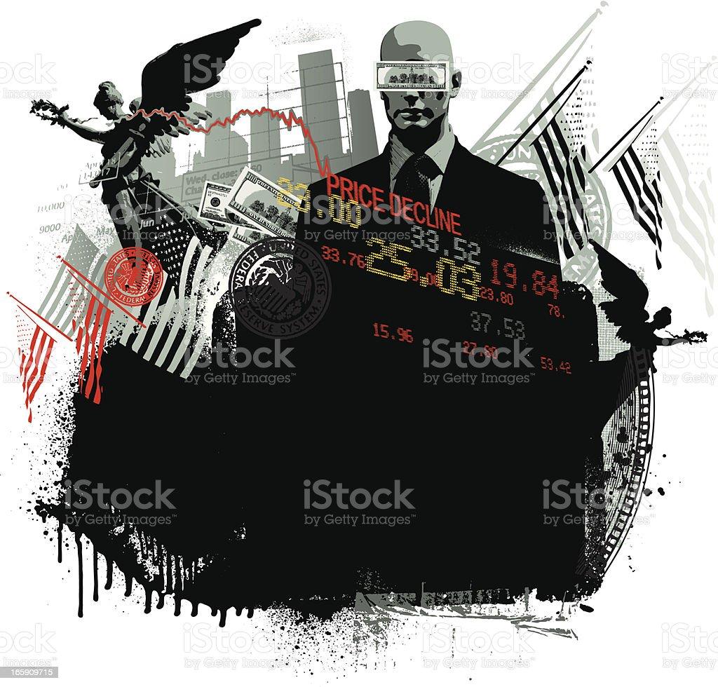 American financial background vector art illustration
