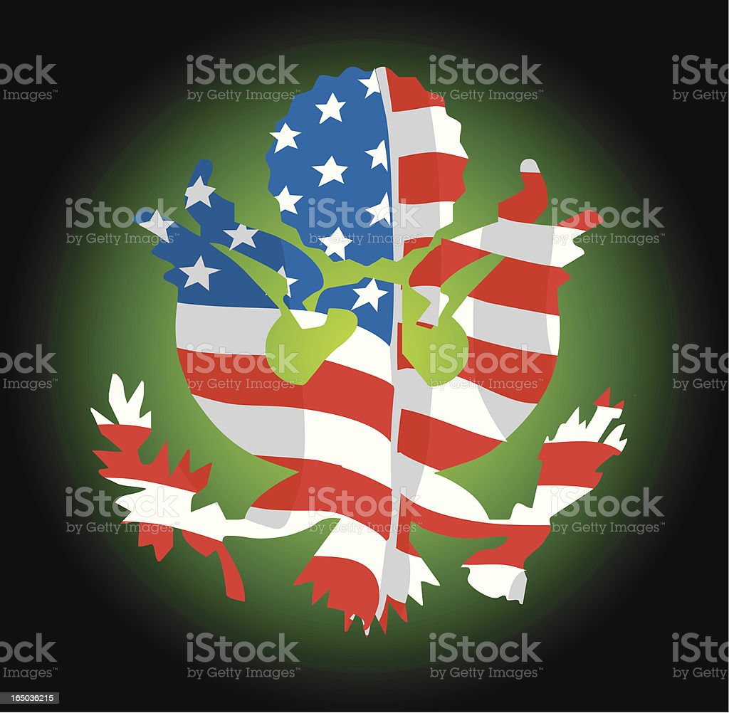 American flag and map vector royalty-free stock vector art