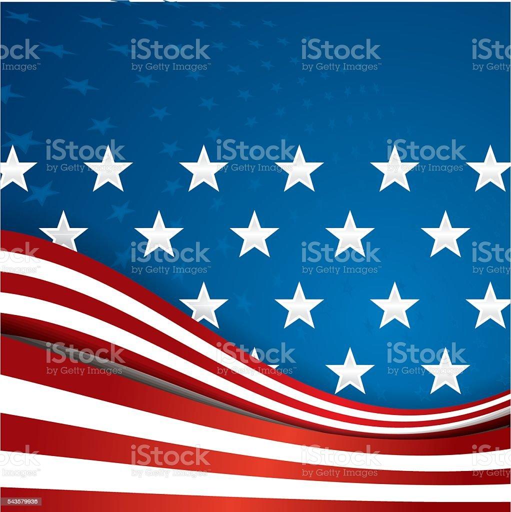 American Flag background illustration vector art illustration