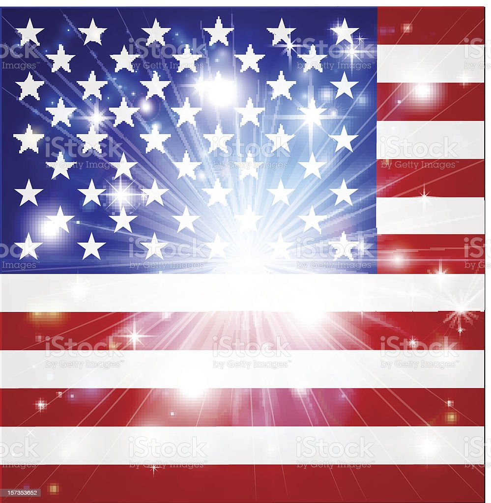 American flag background royalty-free stock vector art