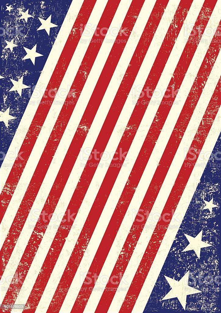 US american flag background vector art illustration