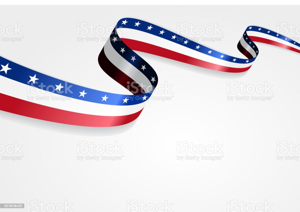 American flag background. Vector illustration vector art illustration