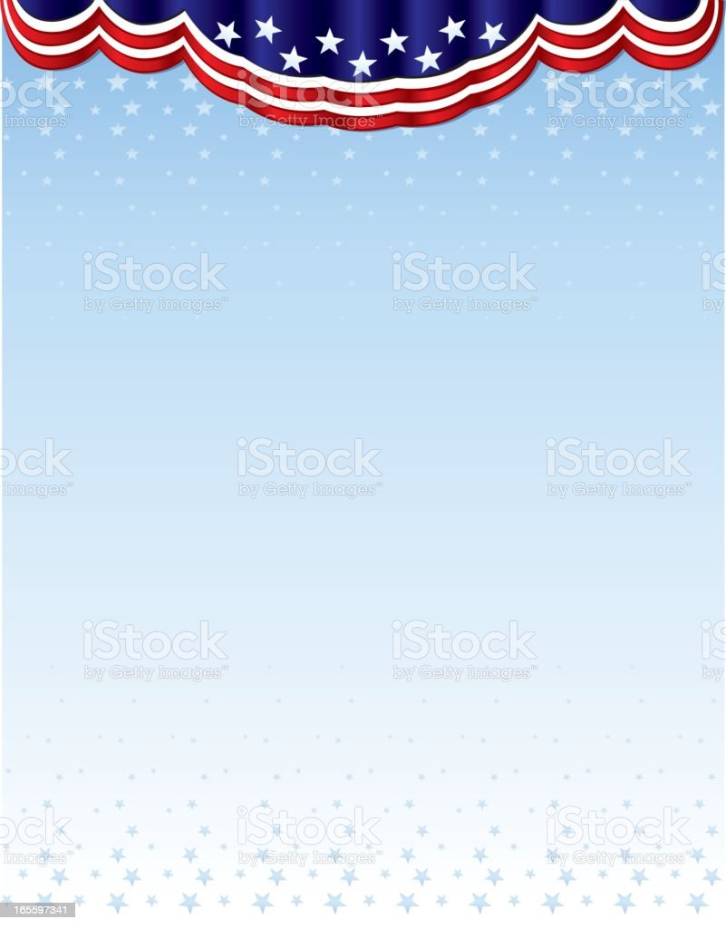 American flag banner royalty-free stock vector art