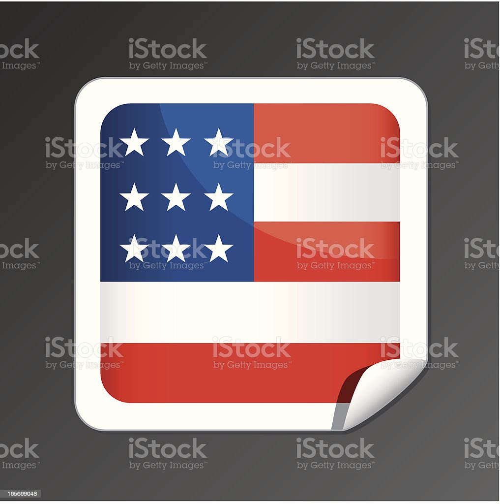 American flag button royalty-free stock vector art