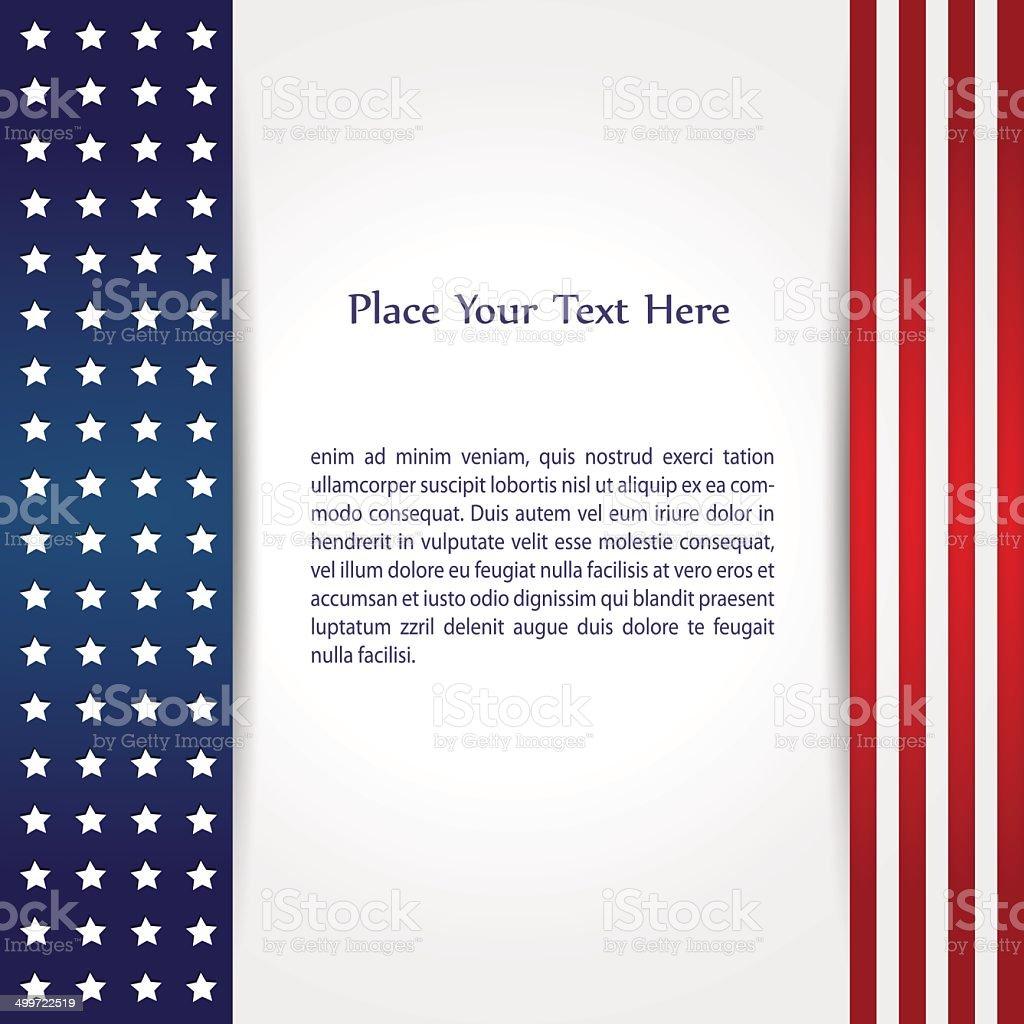 American Flag Design vector art illustration