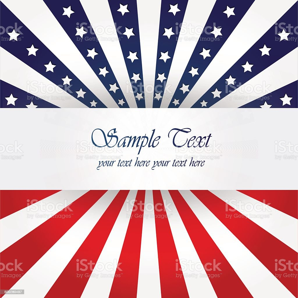 American Flag Design vector art illustration