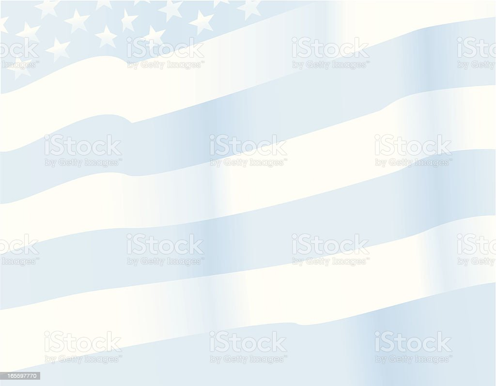 American flag faded background vector art illustration