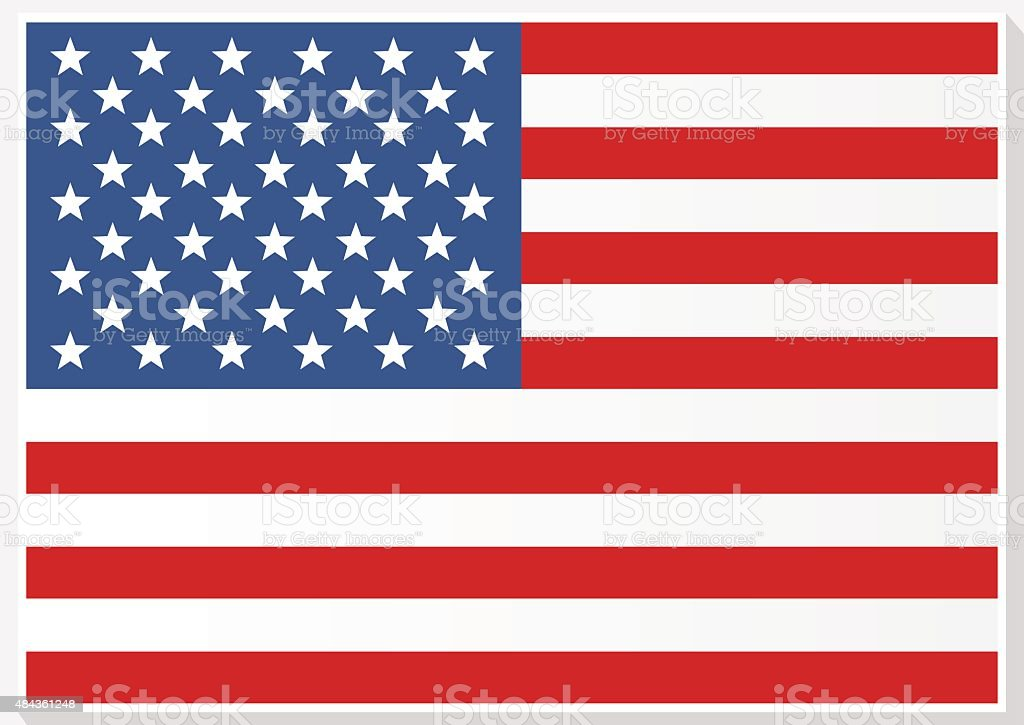 American Flag. Flag of the United States of America. vector art illustration