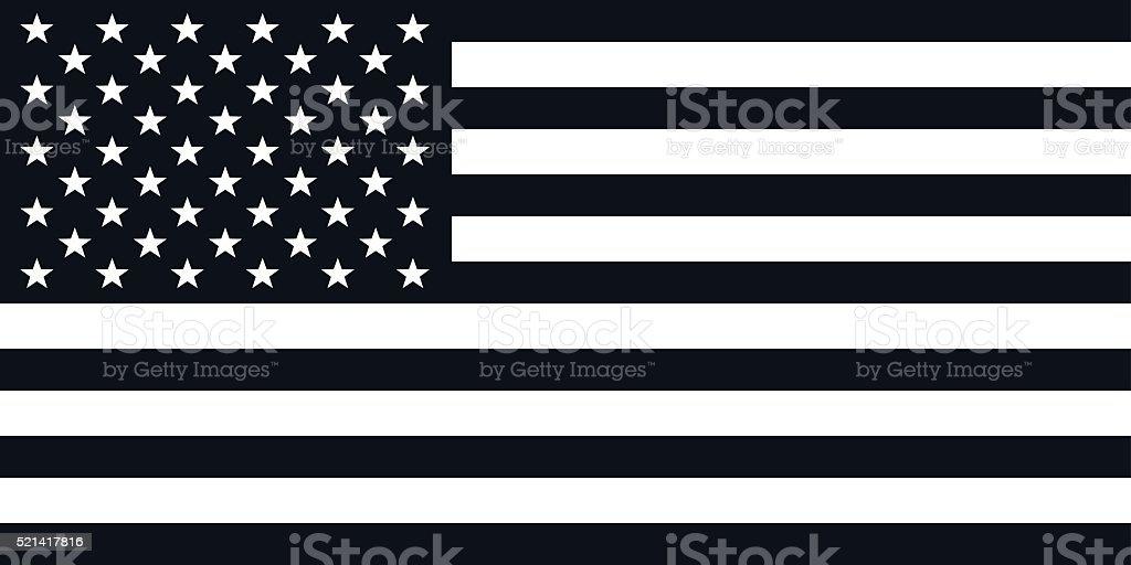 American Flag Illustration - VECTOR vector art illustration