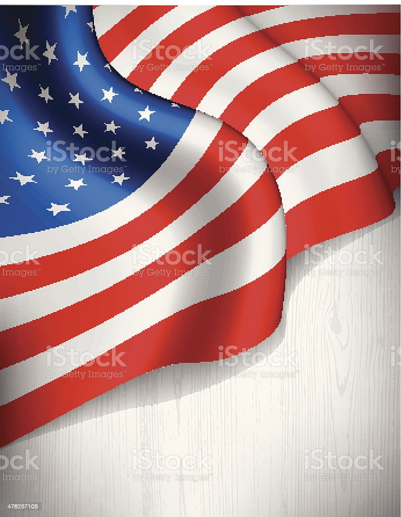 American flag on grey wood background royalty-free stock vector art