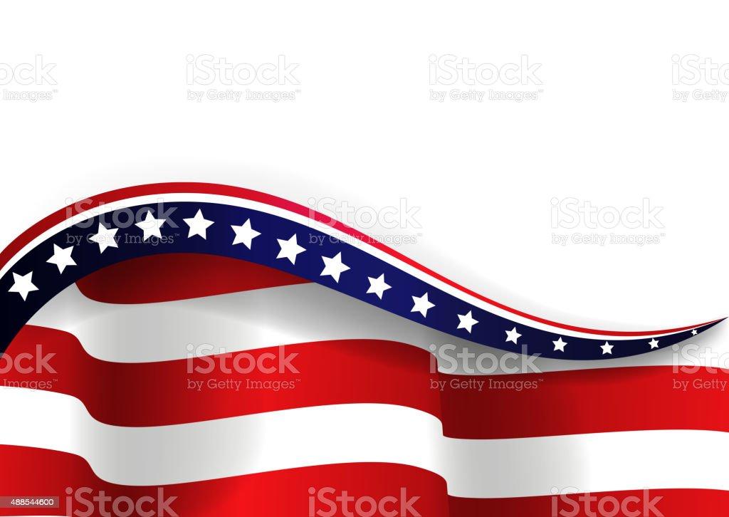 American flag vector art illustration