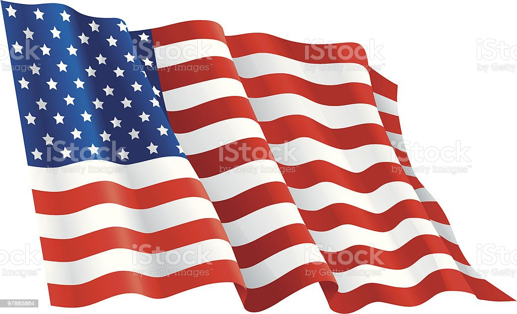 american flag royalty-free stock vector art